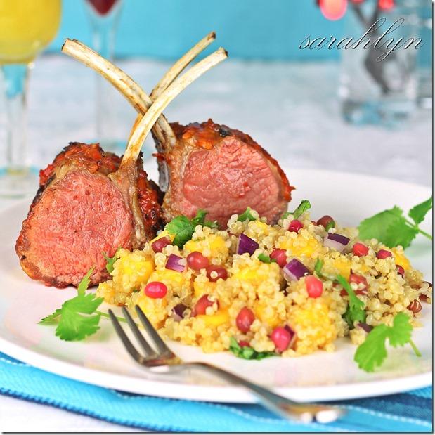 harissa lamb with quinoa saladW