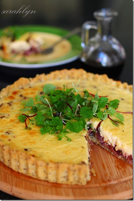 goats cheese and sweet onion tart 013fW
